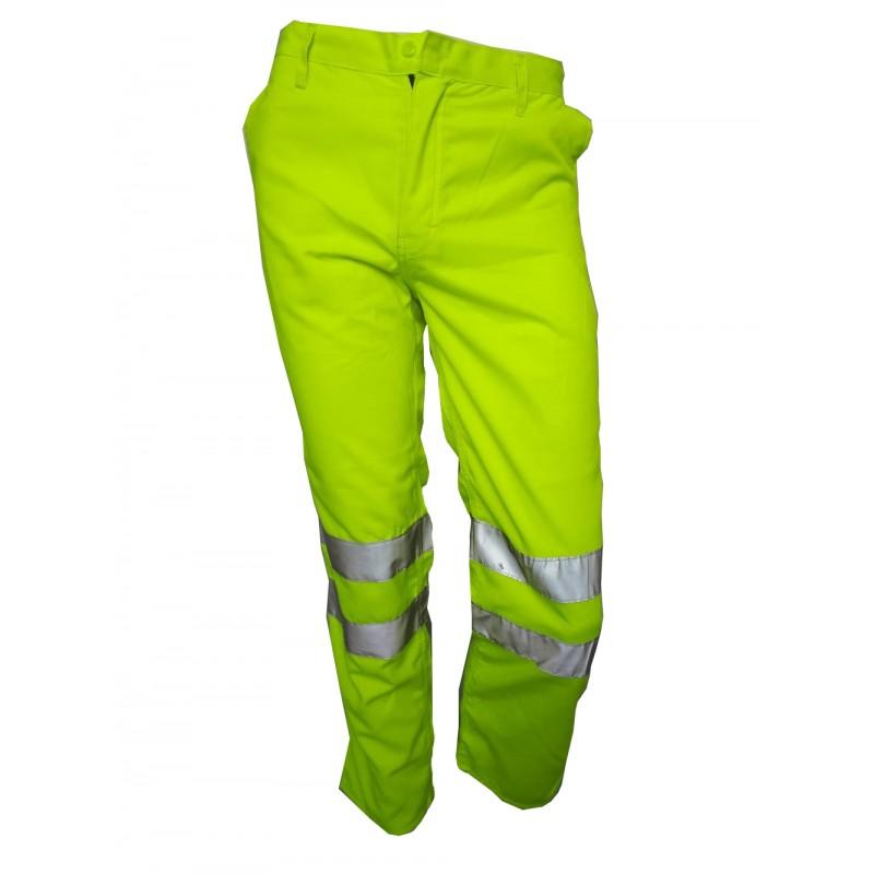 Fosforescente Reflectiva Drill Amarillo Y Cinta Pantalon nOkw0XP8